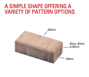 paver shapes and sizes