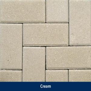 cream paver