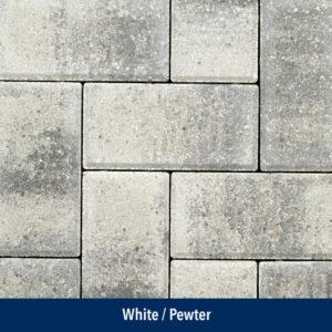 white-pewter pavers