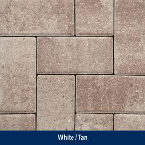 white-tan paver