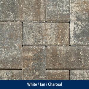 white-tan-charcoal paver