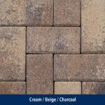 cream-beige-charcoal pavers