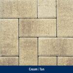 cream-tan paver